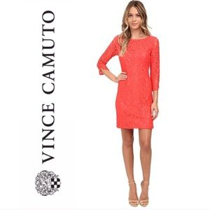 Vince Camuto coral lace dress 2